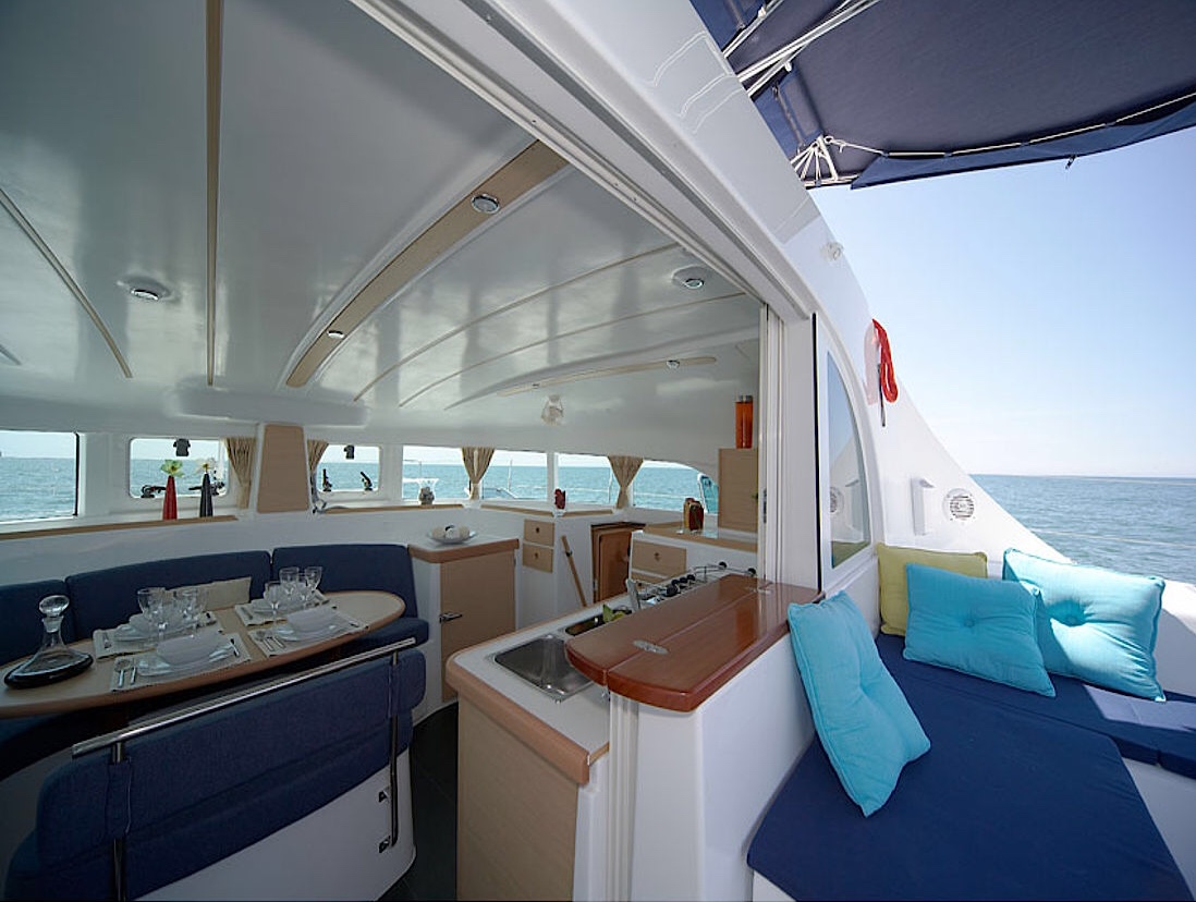 dolphin navigation catamaran inside